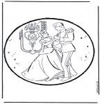 Prik-kort - Prickingcard Cinderella 1