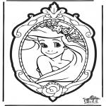 Prik-kort - Prickingcard Disney Princesses 1