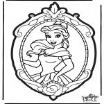 Prik-kort - Prickingcard Disney Princesses 2