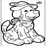 Prik-kort - Prickingcard - dog 1