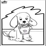 Prik-kort - Prickingcard - dog 2