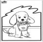Prickingcard - dog 2