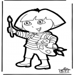 Prik-kort - Prickingcard Dora 1