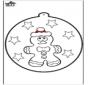 Prickingcard Gingerbread man 1
