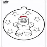 Jule-malesider - Prickingcard Gingerbread man 2