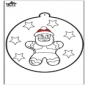Prickingcard Gingerbread man 2