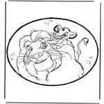 Prik-kort - Prickingcard Lion King