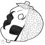 Prik-kort - Prickingcard mask 13