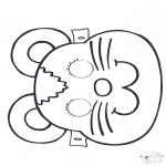 Prik-kort - Prickingcard mask 2