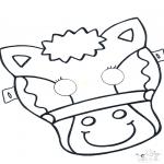 Prik-kort - Prickingcard mask 5