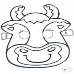 Prik-kort - Prickingcard mask 6