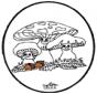 Prickingcard Mushroom