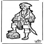 Prik-kort - Prickingcard pirate 2
