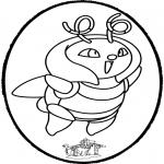 Prik-kort - Prickingcard Pokemon 1