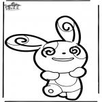 Prik-kort - Prickingcard Pokemon 5
