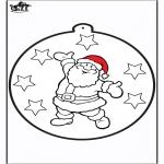 Jule-malesider - Prickingcard Santa