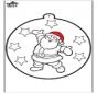 Prickingcard Santa