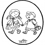 Prik-kort - Prickingcard to school