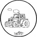 Prik-kort - Prickingcard tractor