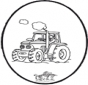 Prickingcard tractor