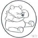 Prik-kort - Prickingcard Winnie 1