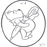 Prik-kort - Prickingcard Winnie 2