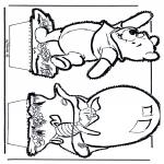 Prik-kort - Prickingcard Winnie 5