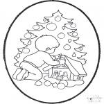 Prik-kort - Prickingcard xmastree