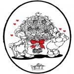 Prik-kort - Prikkaart Valentijn