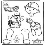 Håndarbejde - Pull-puppet Bob the Builder 1