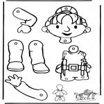 Håndarbejde - Pull-puppet Bob the Builder