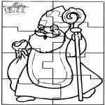 Prik-kort - Puzzel Sint