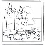 Håndarbejde - Puzzle candles