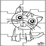 Håndarbejde - Puzzle cat