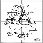 Håndarbejde - Puzzle dragon