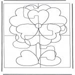 Håndarbejde - Puzzle flower