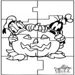 Håndarbejde - Puzzle Halloween