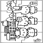 Håndarbejde - Puzzle Hello Kitty