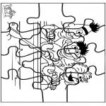 Håndarbejde - Puzzle Sesame Street