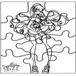 Håndarbejde - Puzzle Winx