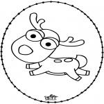 Sy-kort - Reindeer - Stitchingcard