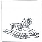Børne-malesider - Rocking horse 1