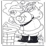 Jule-malesider - Santa at Chimney