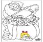 Santa Claus Coloring Page 1