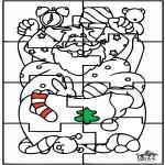 Jule-malesider - Santa Claus Puzzle