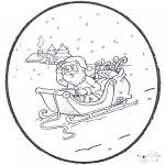 Prik-kort - Santa  prickingcard