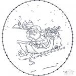 Sy-kort - Santa stitchingcard 1