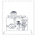 Børne-malesider - Sesame streat 10
