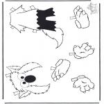 Børne-malesider - Sesame streat 14