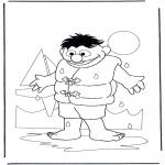 Børne-malesider - Sesame streat 4